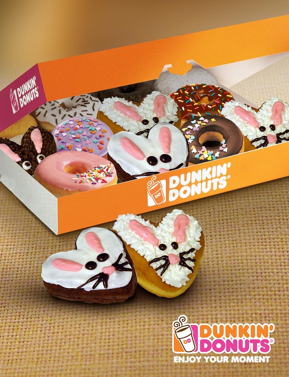 Los conejitos llegan a Dunkin' Donuts