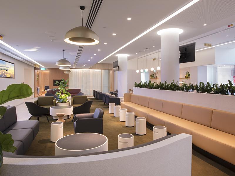 Qantas presenta un renovado Lounge en Perth.