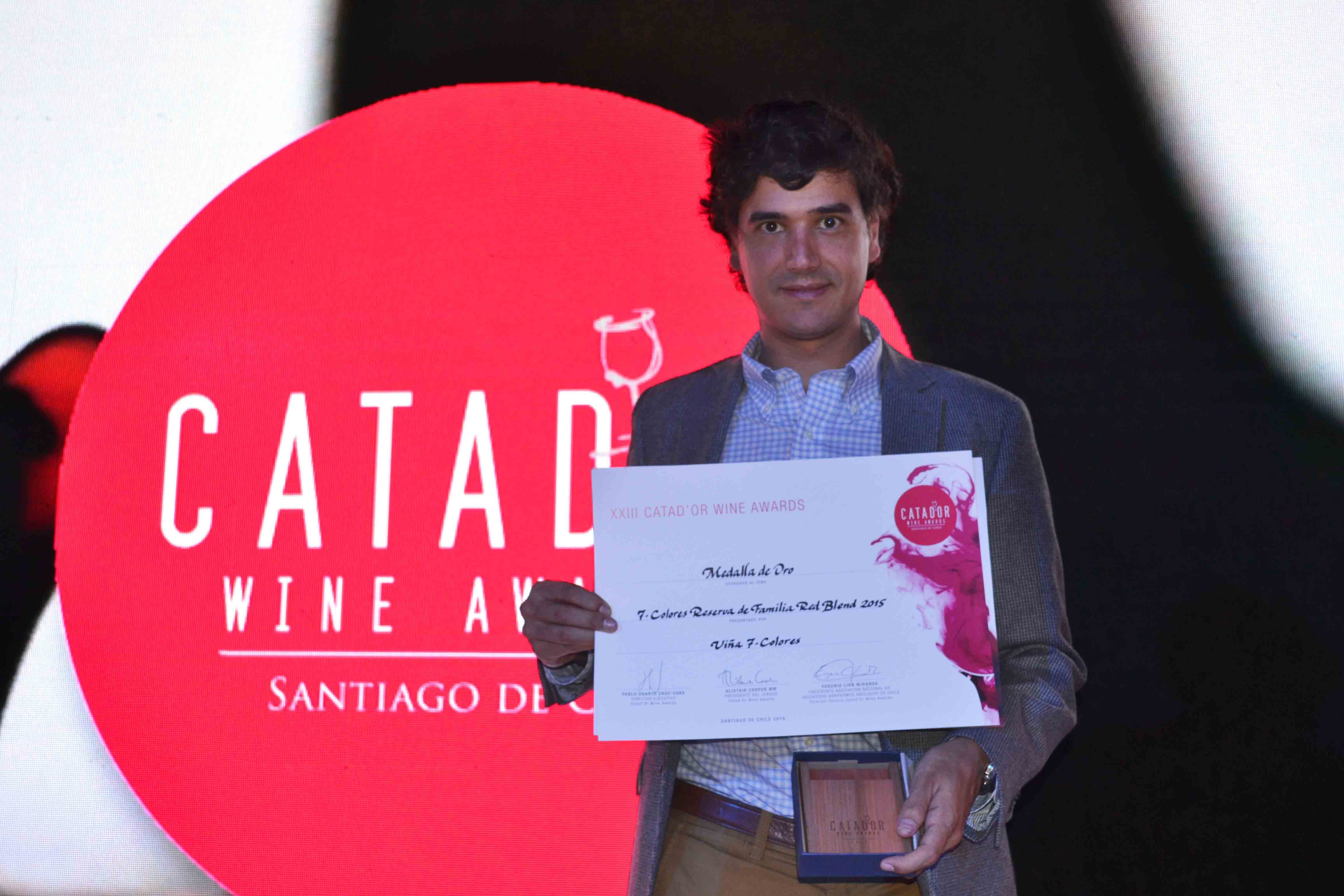 7 Colores ganó medalla de oro en Catad'Or Wine Awards