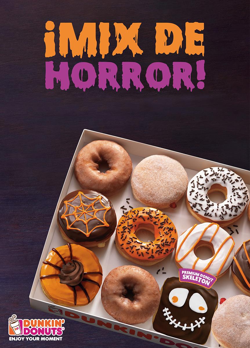Dunkin Donuts tendrá donas con motivos de Halloween