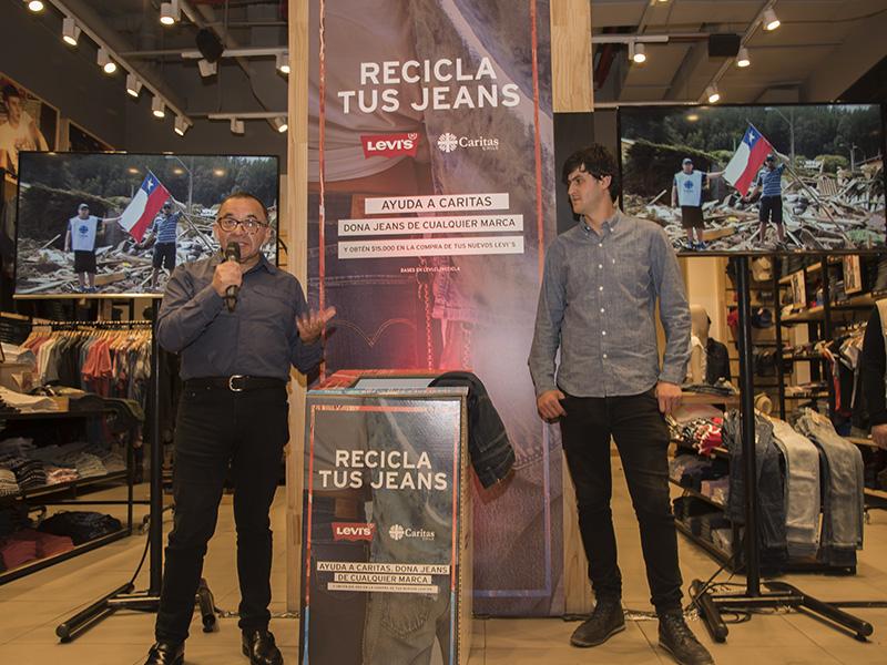 Levis y Caritas Chile se unen en campaña de reciclaje