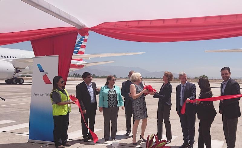 American Airlines presentó su nuevo edificio de mantenimiento en Chile