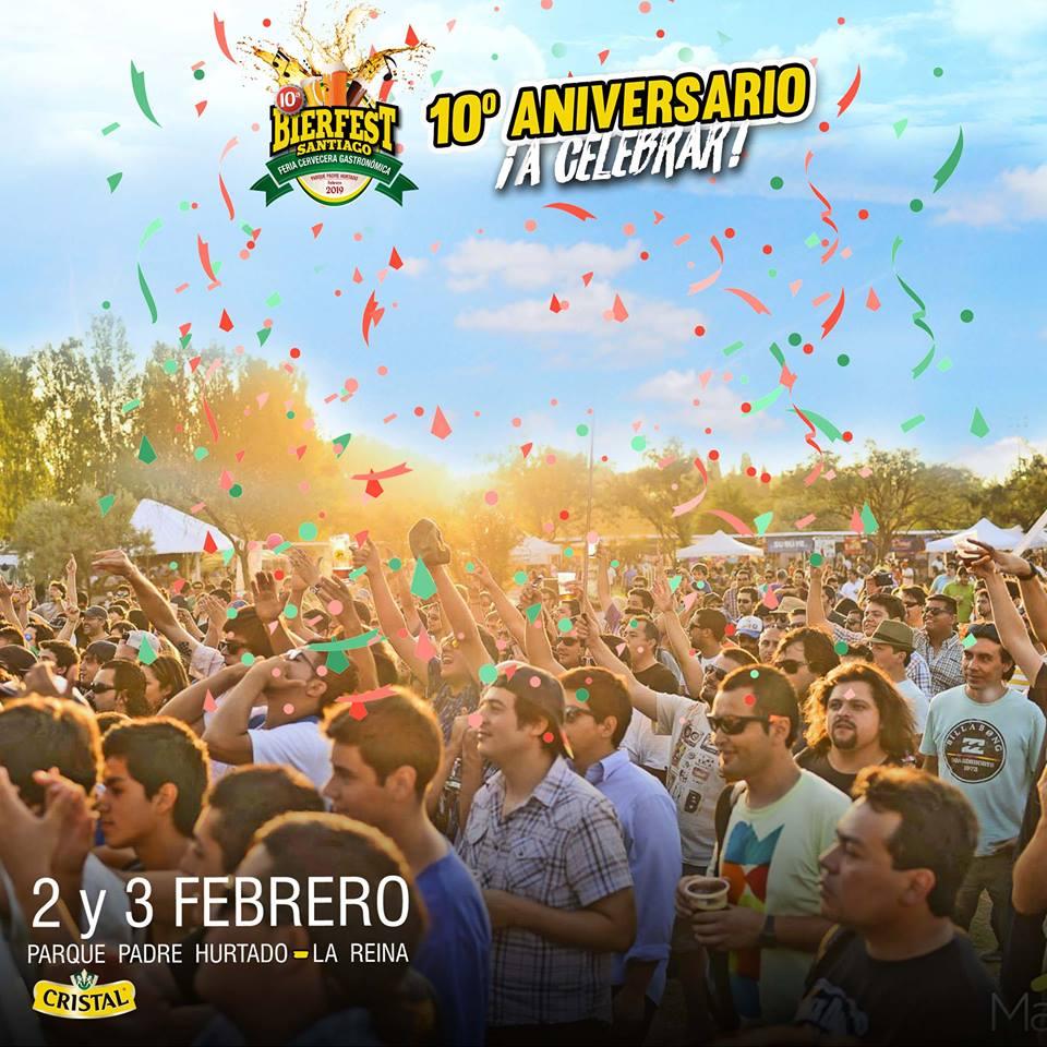 Bierfest Santiago cumple 10 años y lo celebrará el primer fin de semana de febrero.
