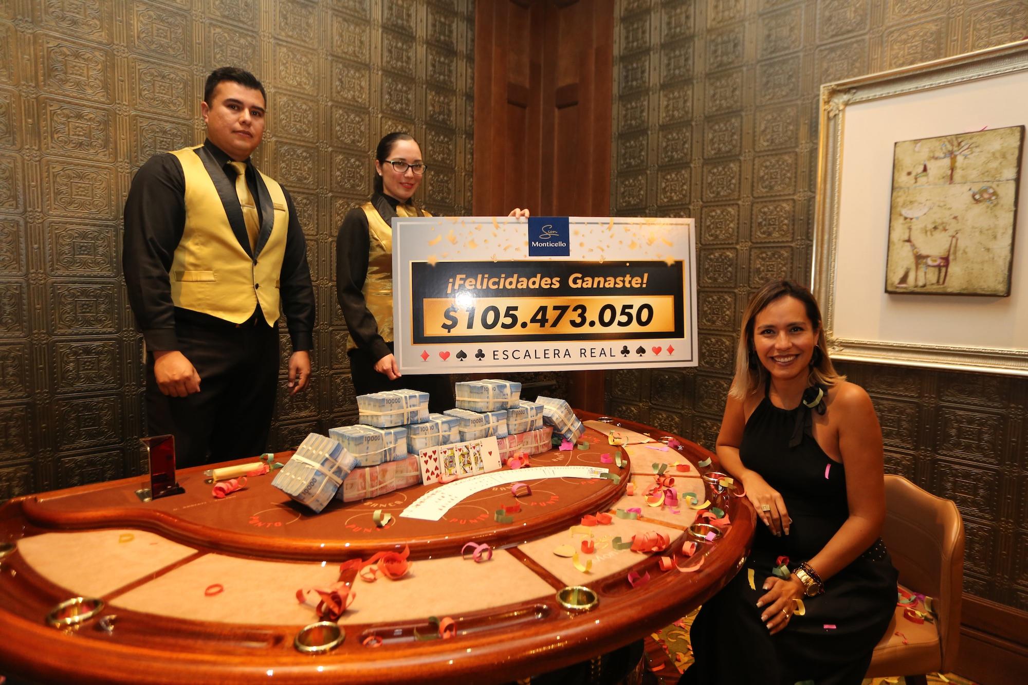Sun Monticello entrega por tercera vez millonario premio en el mismo juego de cartas