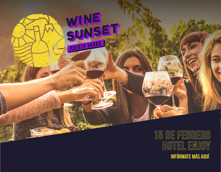 Este 15/02 se viene la primera edición de Wine Sunset Puerto Varas