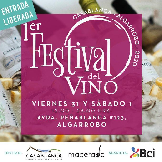 """Casablanca te invita al """"Festival del Vino""""."""