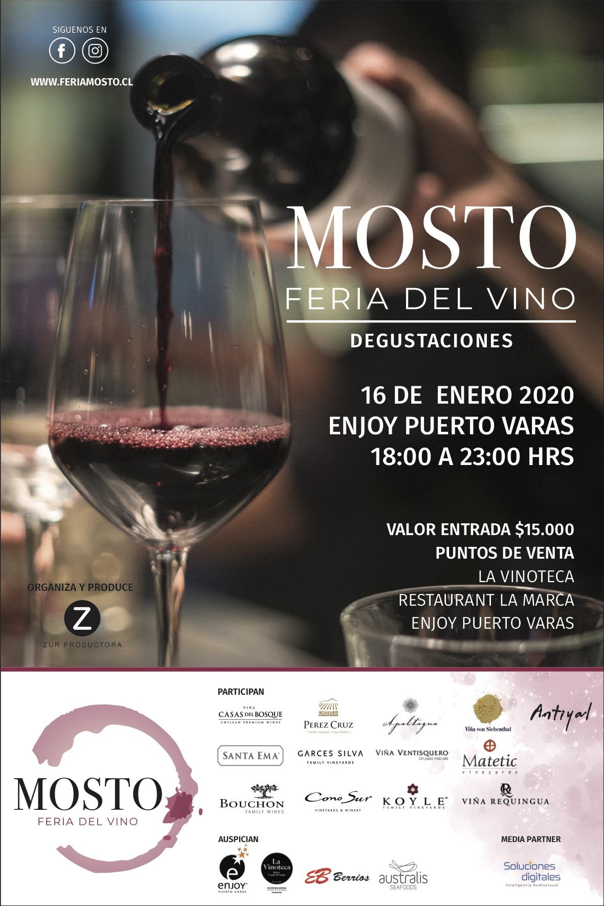 Mosto: la Feria de Vinos en Enjoy Pto Varas
