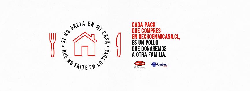 Caritas Chile y Ariztía lanzan campaña 1+1, para apoyar a comedores sociales