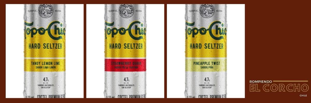 """Topo Chico, llega el primer """"hard seltzer"""" de Coca Cola a Chile"""