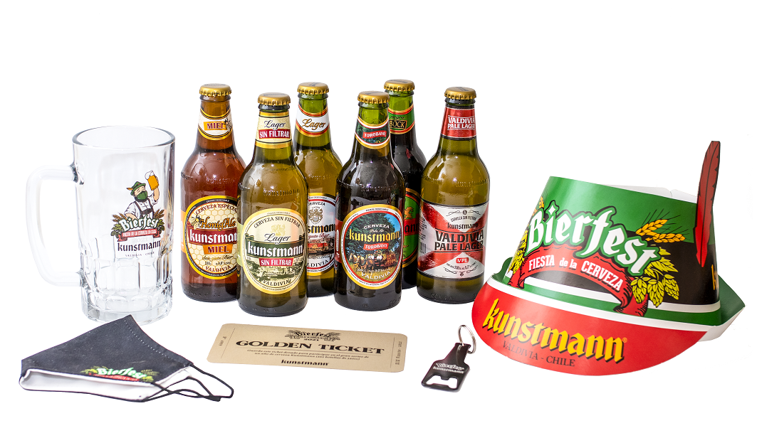 Bierfest online regalará un año de cerveza Kunstmann