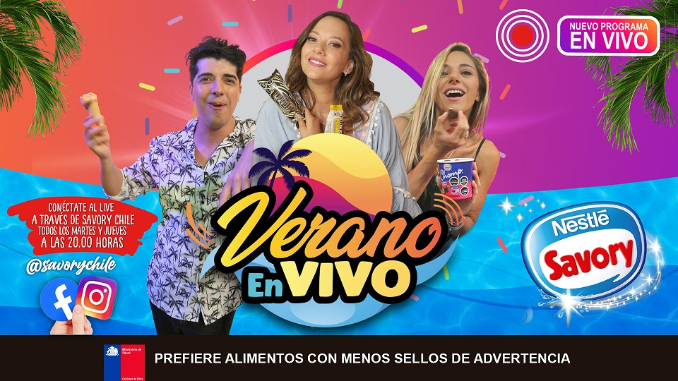 """Savory estrena programa """"Verano en vivo"""" a través de Redes Sociales"""