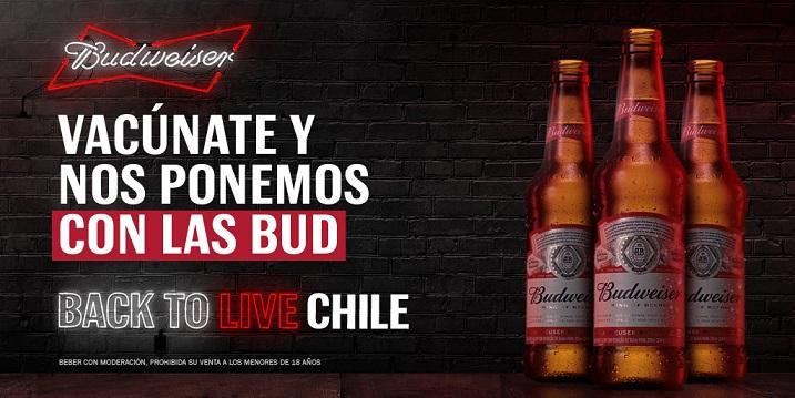 Budweiser regalará cervezas cuando el 80% de los chilenos estén vacunados
