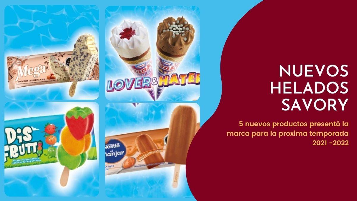 SAVORY lanzó cinco nuevos helados